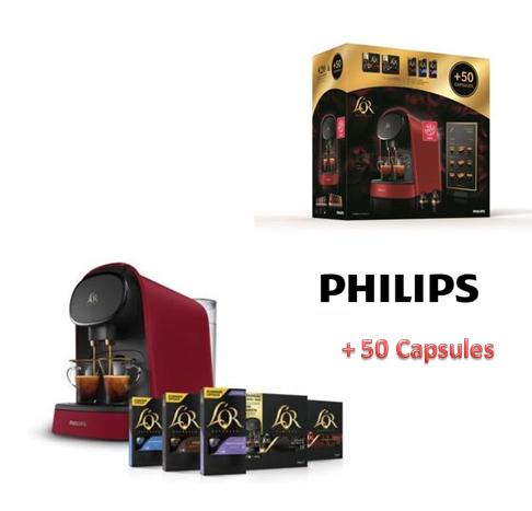 Cafetière Sunset Rubis Philips + 50 capsules