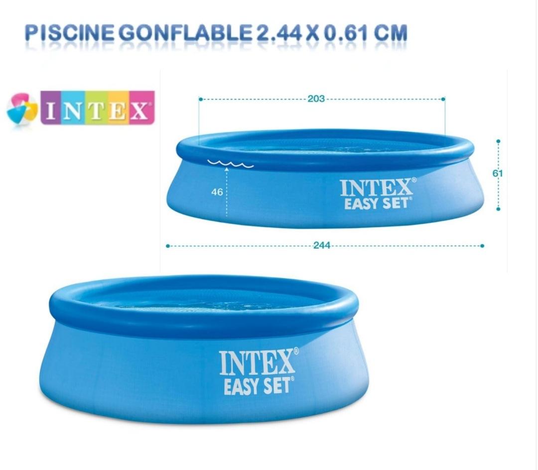 Piscine Intex gonflable 244 x 61 cm