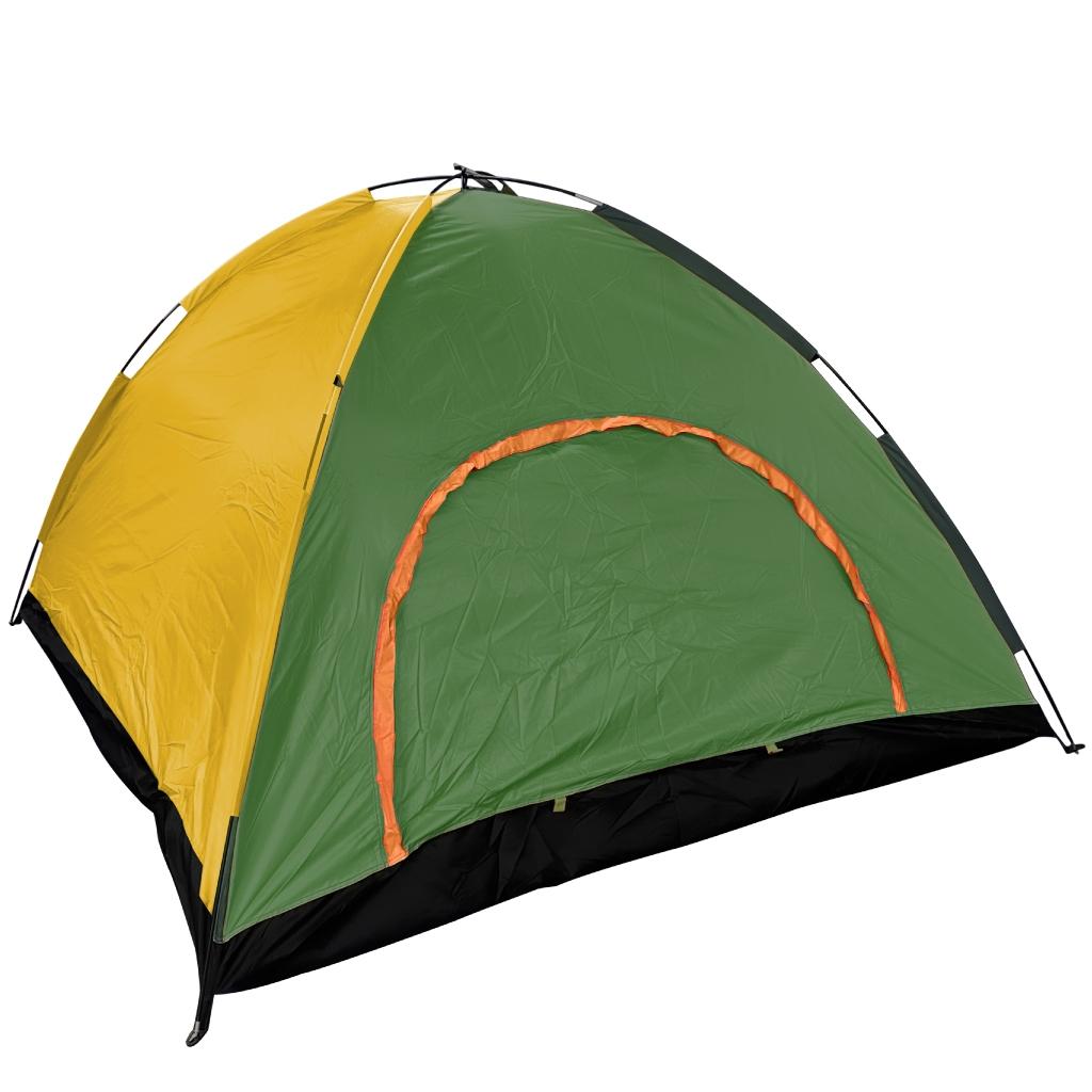Tente-4pers-vert-fonce-jaune